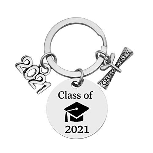 CeFoney 2021 Granduation portachiavi per anziani universitari laureati regalo migliore amico gioielli portachiavi per figlia, figlio, nipote, sorella, nipote, migliore amica, fidanzata