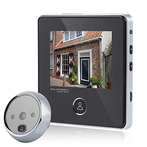 VBESTLIFE ドアインターホン 0.3MP 120°広角カメラ 液晶ドアモニター 玄関ベル ビデオ HD IR セキュリティ防犯ドアベル