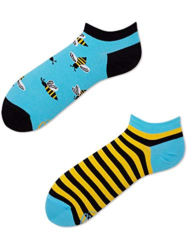 Many Mornings unisex Knöchelsocken Bee Bee (Blau, 39/42)