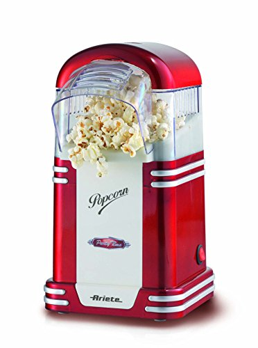 mejores Máquinas de palomitas Ariete Party Time Maquina de Palomitas, 1100 W, Color Rojo y Blanco