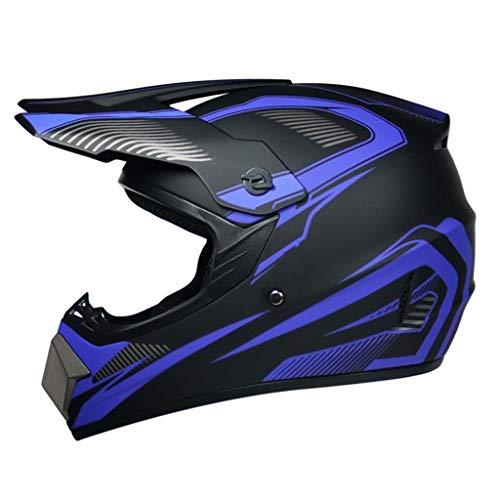 Motocross Helmet Offroad Gear Combo Mask Goggles Gloves,ATV Motorcycle Helmet SUV Dirt Bike Off-Road Mountain Bike Helmet 4-Piece Set Unisex DOT Approved