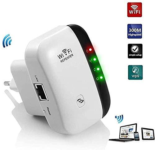 HELIn Repetidor WiFi - LV-WR03 Punto de Acceso Superboost Fácil configuración Super Boost Internet inalámbrico 2.4G-5G Amplificador WiFi de Doble Banda WiFi 300Mbps Repetidor WiFi