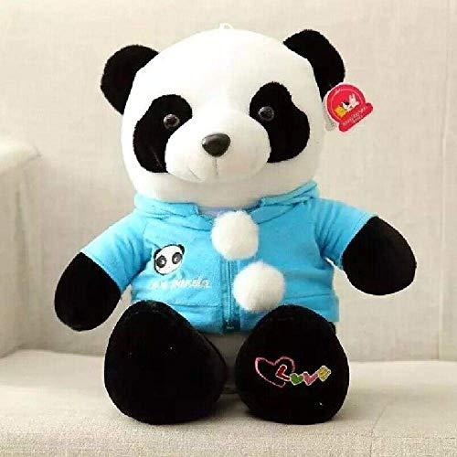 DINGX 40 Cm Tamaño Panda Con Capa Peluche Juguete Panda Peluche Suave Juguete Niños Regalo Nuevo 1 Pc-40Cm_Azul Chuangze