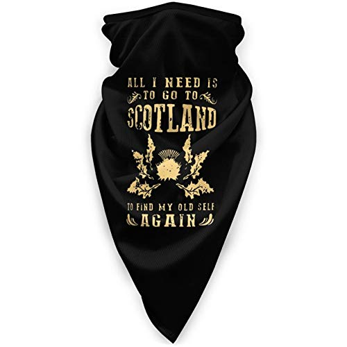 All I Need to Go to Scotland Neck Gaiter Face Mask Reusable Bandanas Headwear Balaclava Scarf Black