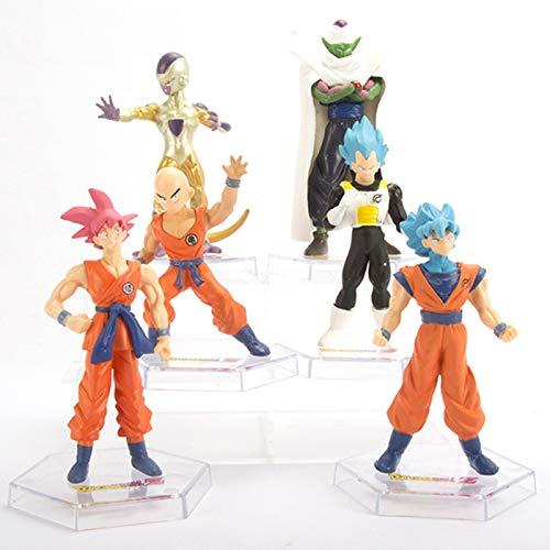 AAPP Dragon Ball Figure Son Goku/Frieza/Vegeta IV 6 PCS Super Saiyan Statue Resurrection Ver 12 cm