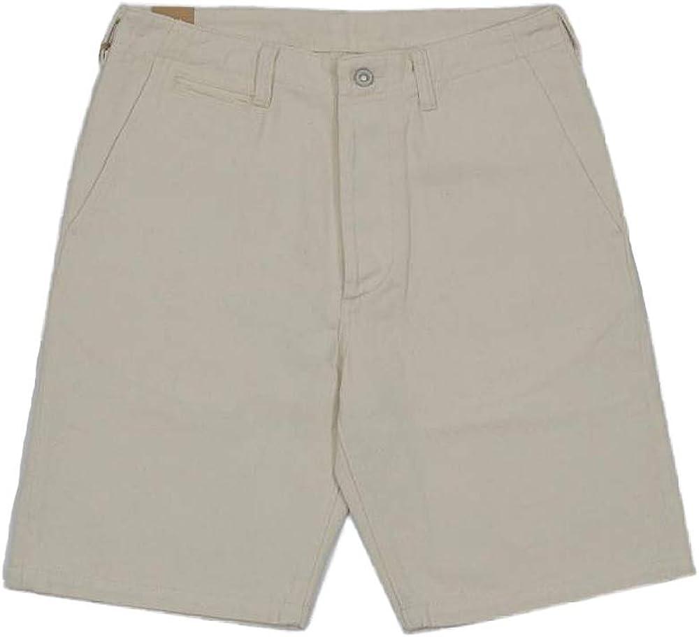VTGDR 13oz Cream Cottonseed Hulls Denim Casual Shorts Natural