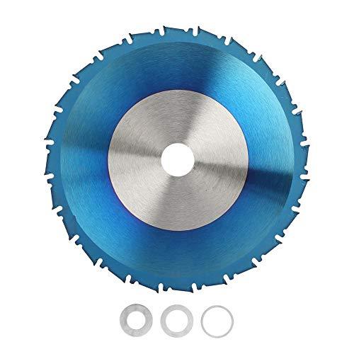 Yanmis Hoja de Sierra Circular, Disco de Hoja de Corte con Recubrimiento de carburo Azul para Cortar plástico, Madera, Metal Blando, Aluminio, Cobre(165 * 2.3 * 20 * 40T)