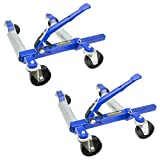 "Jackco 1500 LB 12.5"" Wheel Car Positioning Dolly with Ratcheting Foot Pedal (2 Pack)"