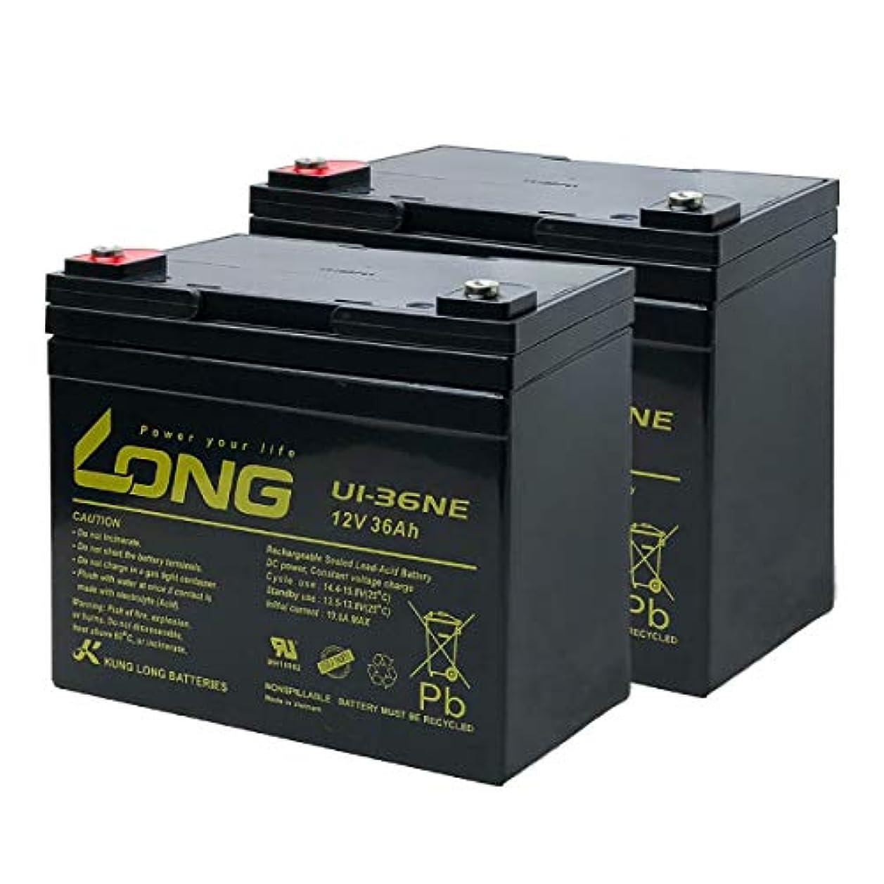 ペース最終的に税金LONG / U1-36NE【お得!2個セット】(産業用鉛蓄電池) SEB35互換 電動セニアカー 溶接機 ソーラー発電システム 対応 サイクルバッテリー シールド型 MF