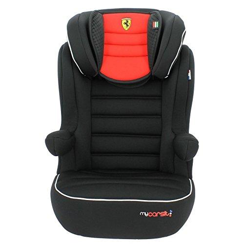 mycarsit Sitzerhöhung Isofix Ferrari, Gruppe 2/3(von 15bis 36kg), rot