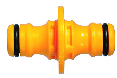 Hozelock 2291A6002 Accoupleur Double Mâle, Jaune/Gris, 16x10x20 cm