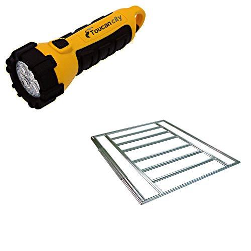 Toucan City LED Flashlight and Arrow Yardsaver Galvanized Steel Floor Frame Kit FB47410