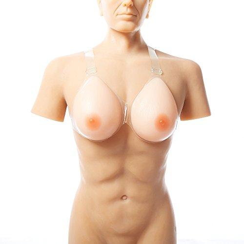 ZCZLOVE Cross-Dresser Silikon Gefälschte Brust BH Gurt Gefälschte Brüste Falsche künstliche Brustformen(B Cup-600g)