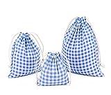 Abaría - 3 unidades bolsa de almacenamiento pequeña - Bolso de pañal del bebé - Bolsa de tela para ropa - Bolsas de cuerdas viaje - Bolsas de cumpleaños - Bolsas almacenaje de adornos festivos