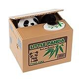 SZIYV Panda del Dinero De Banco, Ladrón del Gato Panda Cajas De Dinero Cajas De Dinero Automática Robó La Moneda Hucha Caja De Dinero con Voz Huchas Regalo For Los Cabritos (Color : Panda)