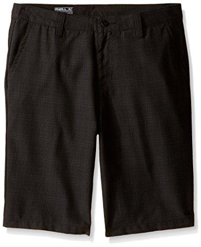 O'Neill Boys' Big Delta Plaid Short, Black, 24