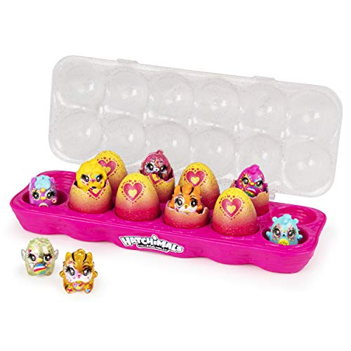 Hatchimals CollEGGtibles, Limmy Edish Glamfetti 12-Pack Egg Carton with 12 Exclusive Hatchimals (Styles May Vary)