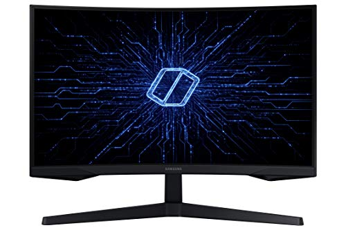 "Samsung Monitor Gaming Curvo G55, 27"", VA, WQHD, 2560 x 1440, 16:9, 144Hz, 1 ms, HDR, Freesync Premium, Display Port 1.2, HDMI 2.0, Eye Saver Mode, Flicker Free, Super Arena Gaming UX, Cavo HDMI, Nero"