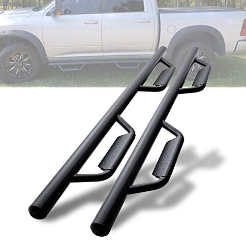 S.K Vincent Drop Running Boards Side Step Nerf Bars Hoop Bar Drop Step Style for 2009-2018 Ram 1500 Crew Cab (Including 2019-2020 Classic)/10-20 Ram 2500 3500 Crew Cab (4 Full Size Door)