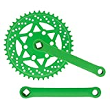 Riscko 007sml Juego De Bielas Bicicleta Personalizada Fixie Tallas S-m-l-l Urb Verde