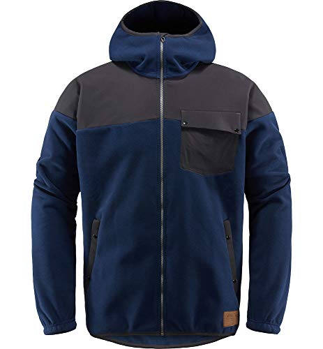 Haglöfs Norbo Windbreaker Hood Jacke für Herren L Blau / Schwarz (tarn blue/true black)