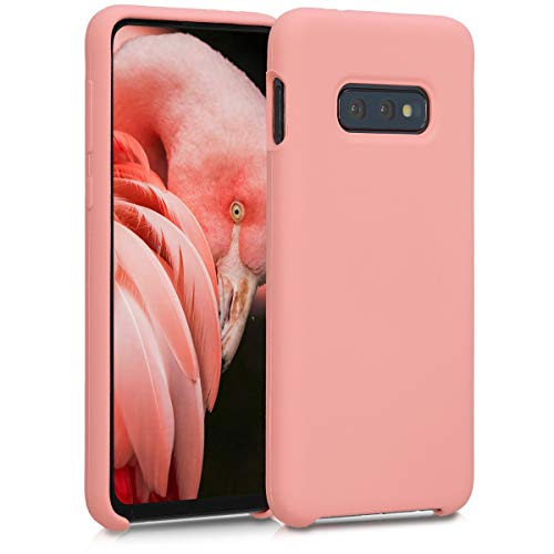 kwmobile TPU Silicone Case Compatible with Samsung Galaxy S10e - Soft Flexible Rubber Protective Cover - Coral Matte