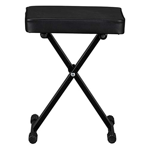 Foldable 3-levels Piano Bench Electronic Bench - Quality Musical Instrument Accessories - Perfect for Professional or Home Use Piano Stool