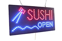 Sushi Open Sign, TOPKING Signage, LED Neon Open, Store, Window, Shop, Business, Display, Grand Opening Gift