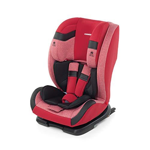 Foppapedretti Re-Klino Fix Seggiolino Auto ISOFIX Gruppo 1/2/3 (9-36KG), per Bambini da 9 Mesi a 12 Anni, Cherry