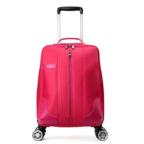 SH-lgx Zaino Trolley a 4 Ruote Zaino da Viaggio per Ufficio Mobile Bagaglio a Mano per Laptop Borsa da Viaggio per Zaino da Viaggio (53 * 35 * 21cm) (Colore : Rosa, Dimensioni : 53 * 35 * 21cm)