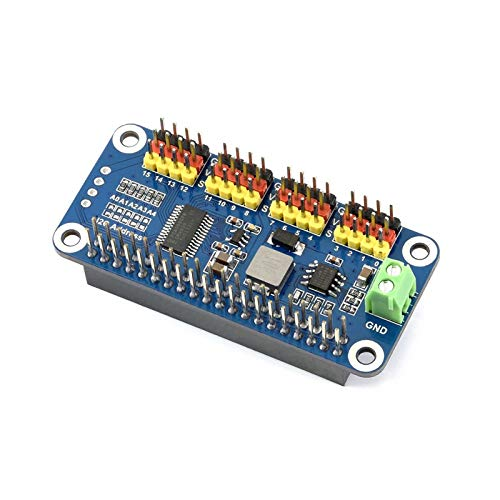 Waveshare Servo Driver HAT for Raspberry Pi/Jetson Nano 16-Channel 2-bit I2C Interface PCA9685 Driver Supports Servo Such as SG90, MG90S, MG996R, etc