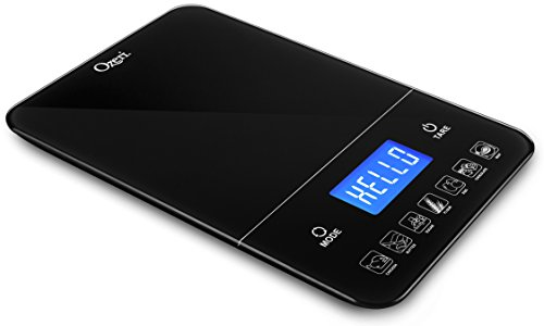 Ozeri ZK19 Touch III 10 kg Digital Kitchen Scale with Calorie Counter, 22 lb, Black