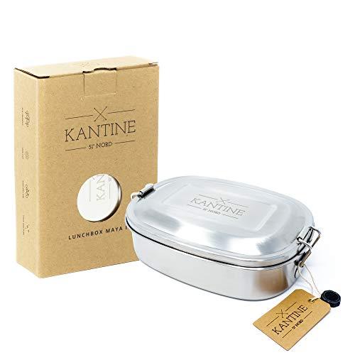 Kantine 51° Nord ® Lunchbox Maya III | 500ml Edelstahl Brotdose mit Fester Trennwand und 3 Fächern | Perfekt für Kids