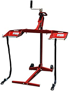 Troy-Bilt 45700, 500lb Lifting Capacity, Fits Most Residential and Zero Turn Riding Lawn Folds Flat for Easy Storage, Use for Mower Maintenance or Repairs, Red
