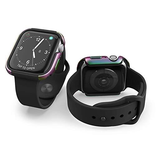 X-Doria Defense Edge - Marco protector de aluminio para Apple Watch de 38 mm (iridiscente) - Compatible con Apple Watch Series 1, Series 2 y Nike+