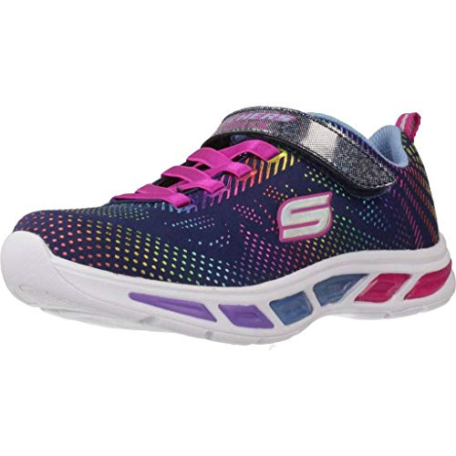 Skechers Mädchen Litebeams-Gleam N'dream Sneaker, Navy Multi, 35 EU