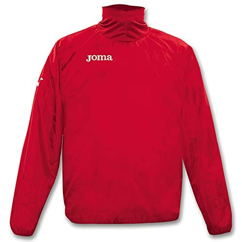 Joma Wind - Chubasquero para niño de 8 años, Color Rojo