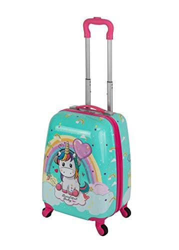 Travelhouse Happy Kiddreen Trolley voor kinderen, reiskoffer, reistrolley, verschillende maten en kleuren, Roze eenhoorn…