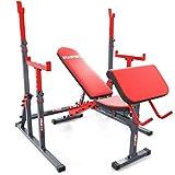 K-Sport - Set di allenamento composto da panca + curl pult+ rack per bilancieri con sicurezza, panca sportiva per allenamento con manubri corti e lunghi | Stazione di forza per un allenamento sicuro