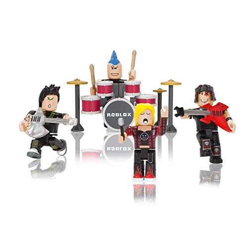 Roblox Action Collection - Punk Rockers Four Figure Pack [Includes Exclusive Virtual Item]