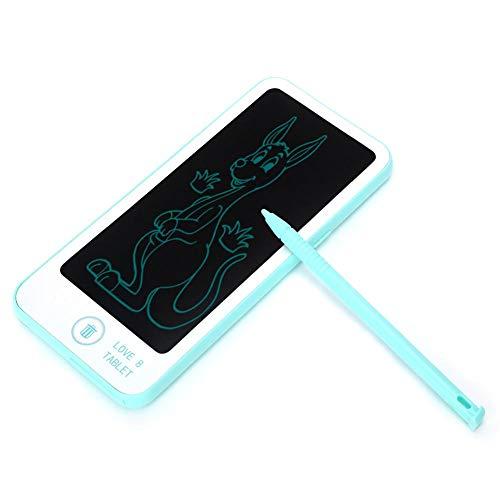 N#A Tableta de Dibujo LCD, Tablero de Doodle LCD de protección para los Ojos, Dibujo de Estudio portátil con Forma de teléfono de plástico para niños pequeños escribiendo(Blue)