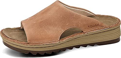 Naot Footwear Women's Ardisia Sandals Latte Brown Leather 9 M US
