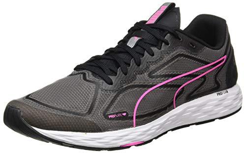 Puma - Speed 300 Racer 2 Wn\'s, Zapatillas para Correr de Carretera Mujer, Negro-Luminoso Rosa