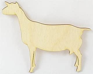 wooden goat cutouts