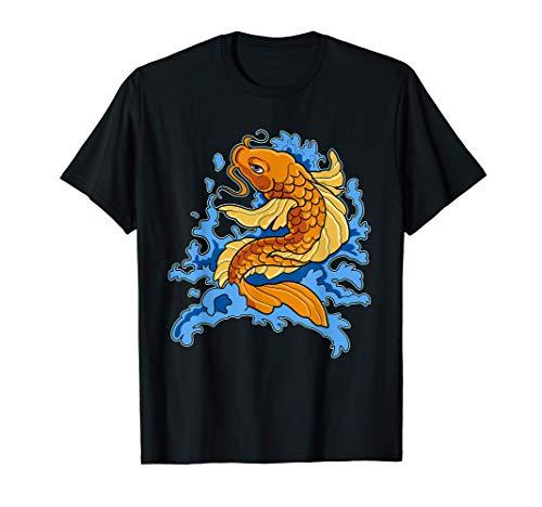 Pez Koi asiático Pez tradicional japonés Carpa Koi Camiseta