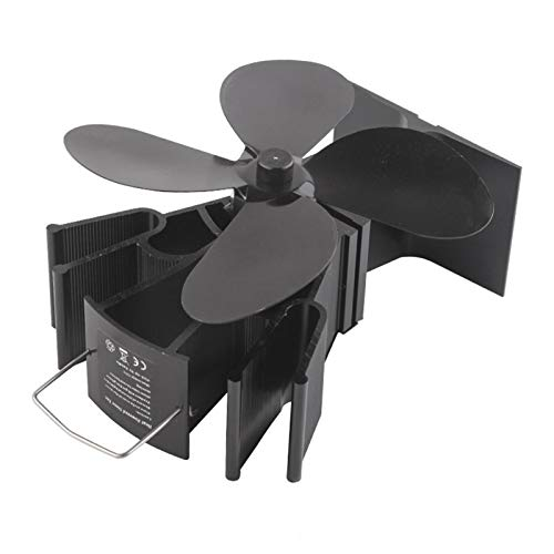 4 Blade Cocoon Fan,Eco Friendly and Efficient wood stove fan,Silent Heat Powered Stove Fan,for Wood/Log Burner/Fireplace,