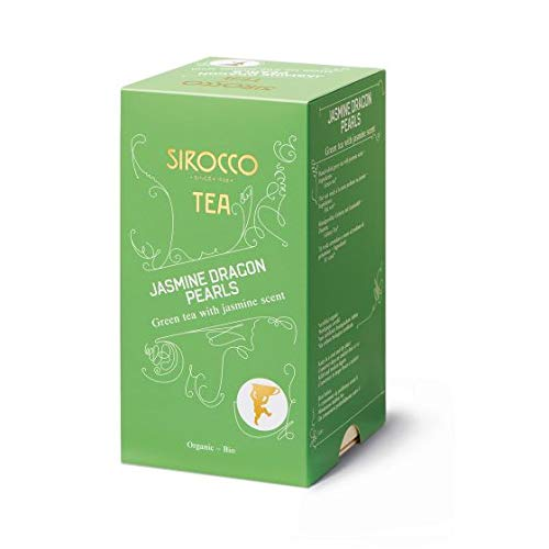 SIROCCO TEE - Grüntee Jasminperlen Organisches Tee (Jasmine Dragon Pearls) - 20 Teebeutel