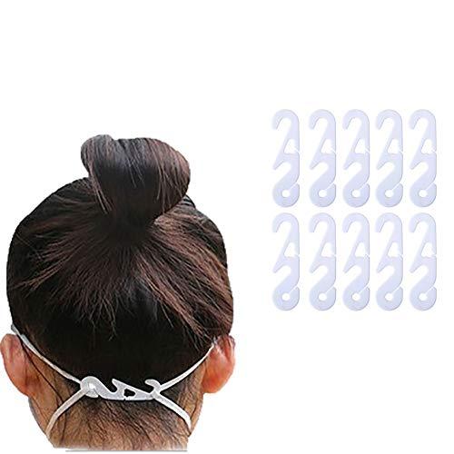 BestTas 10/30/50/80/100 Pcs Maskenhaken Verstellbarer Ohrverschleißtyp Einstellbare Schnalle Ohrseilmaske Verlängerungsschnalle (10)