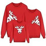 Sudaderas Navideñas Familiares Sudadera Navidad Familia Jersey Navideño Familiar Jerseys Navideños Reno Talla Grande Pullover Jersey Feo Navidad Niño Niña Chico Christmas Jumper Navidad Pareja S