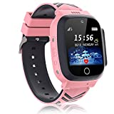 Vannico Kids Smart Watches For Boys Girls Watch Phone GPS Tracker Waterproof SOS Phone Digital Camera Kids Alarm Clock Children Games Recorder Player For 3-12 Years Old Toy Birthday… (Pink)
